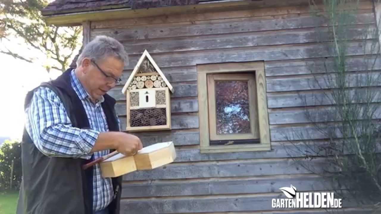 das insektenhotel selber bauen nist und berwinterungshilfe folge 128 youtube. Black Bedroom Furniture Sets. Home Design Ideas