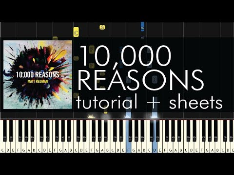 Matt Redman  10,000 Reasons  Piano Tutorial + Sheets