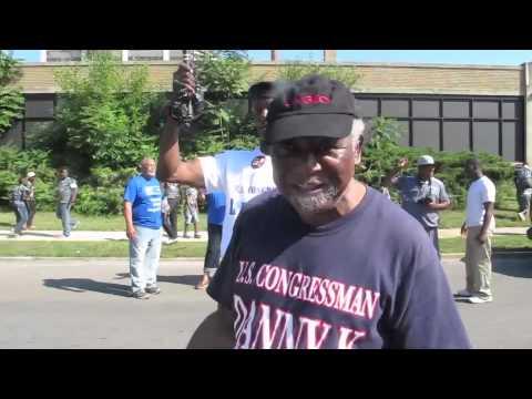Congressman Danny Davis at West Side back-to-school parade
