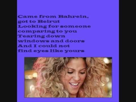 Shakira - Eyes like yours - With lyrics