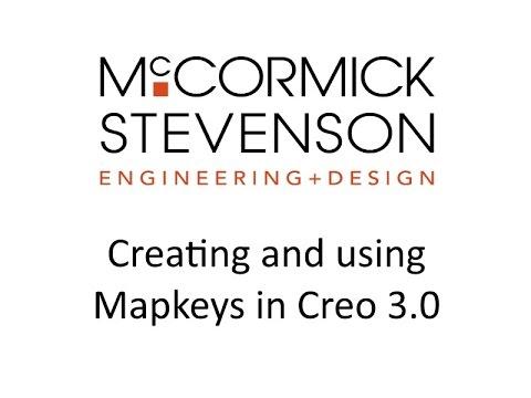 Creating Mapkeys to improve Creo Parametric 3.0 Workflow