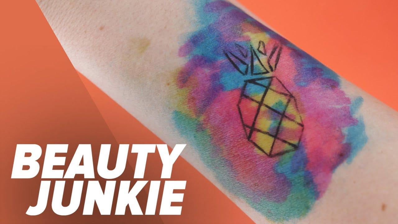 DIY Watercolor Tattoo | Beauty Junkie - YouTube