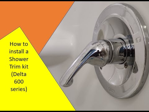how to install a shower trim kit delta 600 series