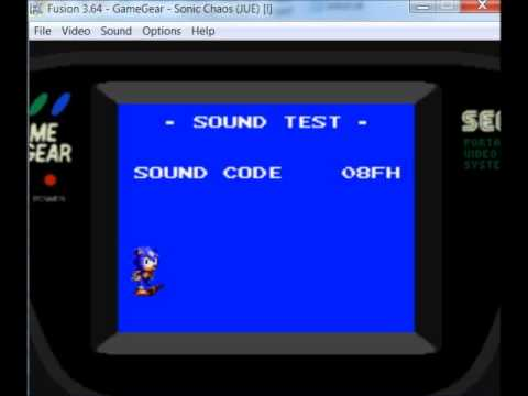 Gscentral Sonic Chaos Game Gear Cheat Enable Modifier 2 Sound Test Par Youtube
