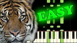 SURVIVOR - EYE OF THE TIGER - Easy Piano Tutorial