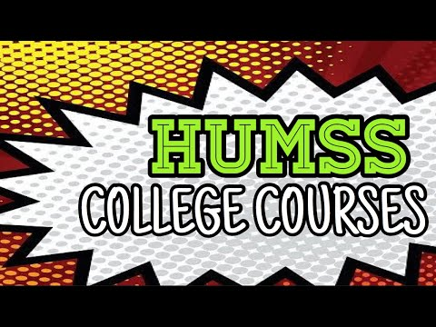 HUMSS Strand Course List In College