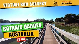 Virtual Run Botanic Gardens Australia 45 Min | No Music  | Isolation Run