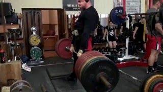 Становая тяга - 380 кг (2 резины +5 см)