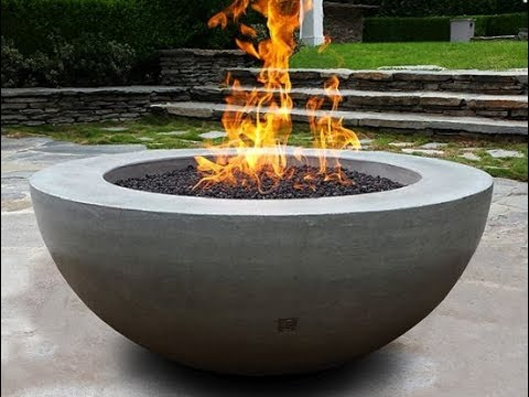 How To Make Tabletop Concrete Fire Bowl Youtube