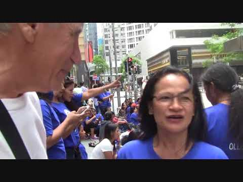 OVERSEAS FILIPINO WORKERS GATHERING IN CENTRAL HONGKONG PART 1