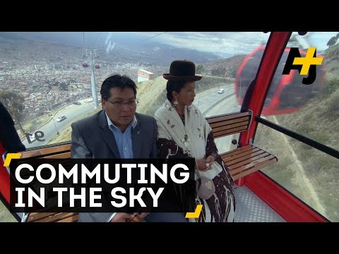 Bolivian Commuters Soar Through The Sky