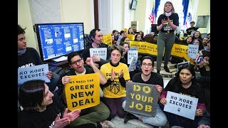Young Climate Activists Storm Capitol Hill Demanding A Green New Deal