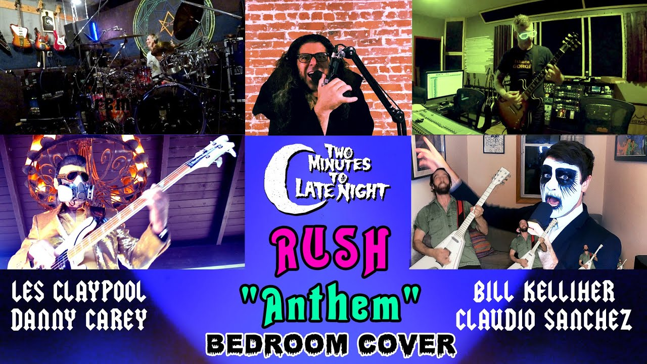 """Coheed and Cambria + Mastodon + Primus +  Tool + Mutoid Man Cover RUSH's """"Anthem"""""""
