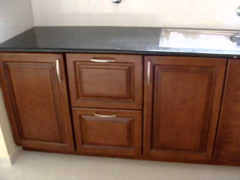 Modular Kitchen-American Walnut Finish-Kochi