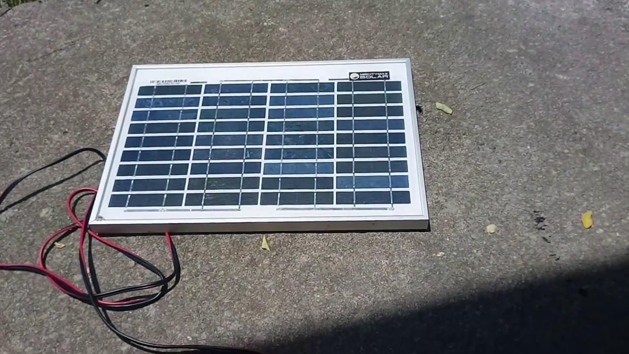 5v 2 5w Vs 12v 10w Solar Panel Diy Solar Charger Test Review Youtube