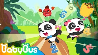 Baby Panda Rescues Friends | Math Kingdom Adventure 1-8 | Learn Numbers | BabyBus Cartoon