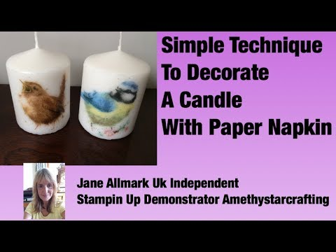 DIY Decorate Candles With Paper Napkins - simple & easy technique