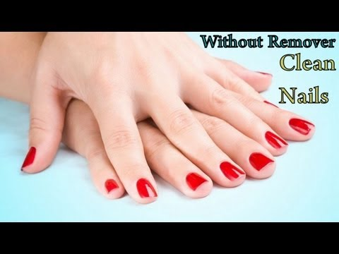 how to remove nail polish without nail polish remover three easy ways at home superprincessjo. Black Bedroom Furniture Sets. Home Design Ideas