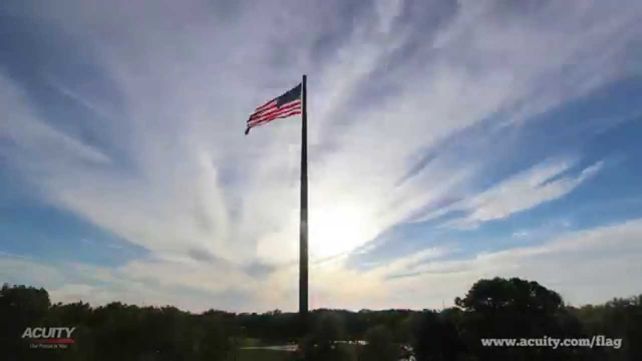 ACUITY's 400-Foot Flagpole - Time Lapse Sunsets - YouTube