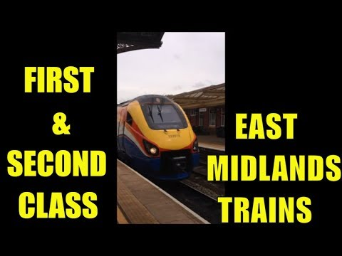 First & second class East midlands trains kettering to London