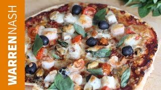 Who doesn't love a quick and easy pizza. if you're bored of the same flavours, mix things up with my delicious homemade seafood pizza recipe.it's full fre...