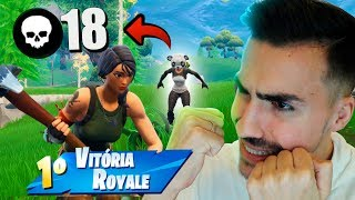 I KILLED 18 ENEMIES WITH THE NEW PANDA SKIN KILLER! Fortnite: Battle Royale