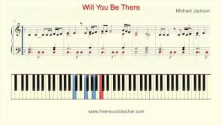 "How To Play Piano: Michael Jackson ""Will You Be There"""