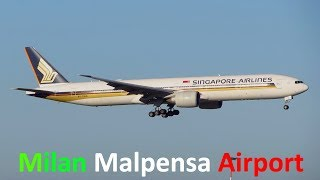 Planespotting at Milan Malpensa Airport MXP: 777, 767, A330, A300 + Go Around & Aborted Takeoff