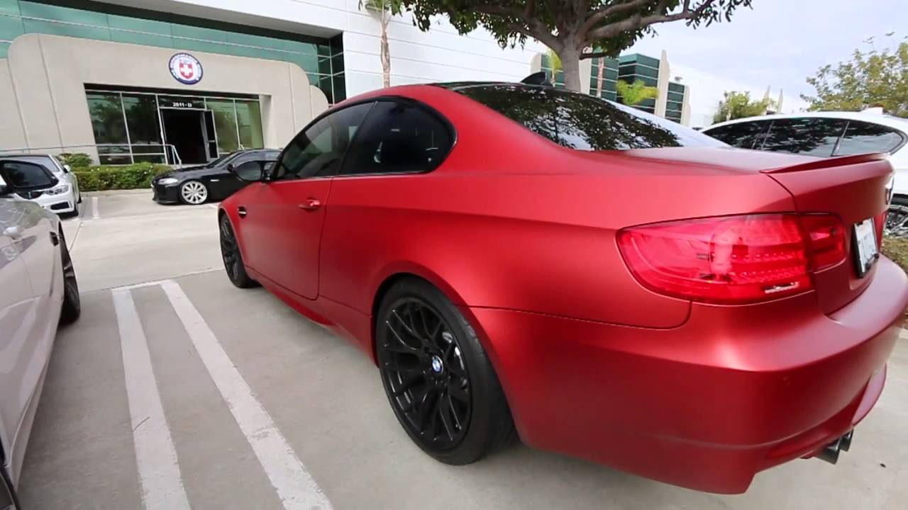 e92 bmw m3 frozen red limited edition color [ 1280 x 720 Pixel ]