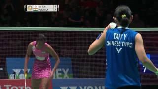 yonex all england open 2017   badminton qf m1 ws   tai tzu ying vs pusarla v sindhu