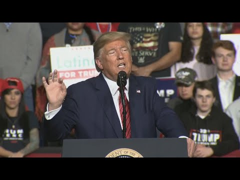 President Trump speaks at rally in North Charleston, South Carolina: live at 7PM