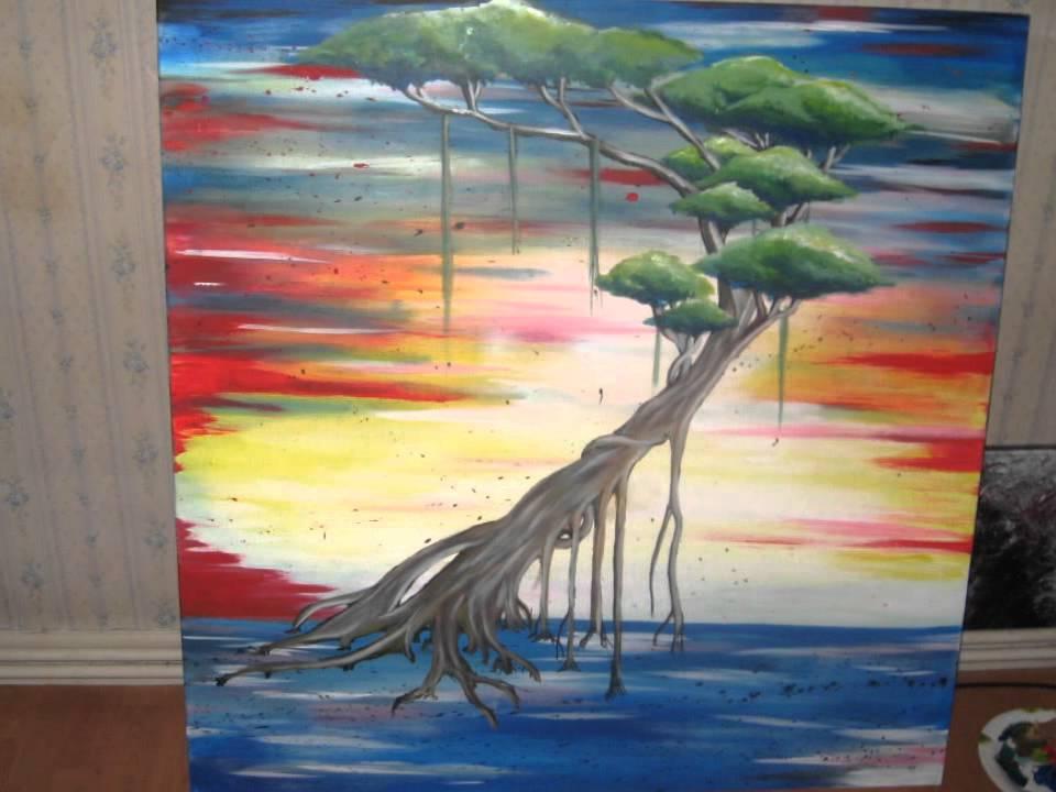 Peinture Acrylique Arbre De Vie Par Zad Artiste Peintre Youtube