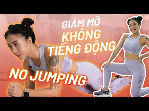 Giảm mỡ toàn thân tại nhà không làm ồn   No jumping   100 calories   Workout #181