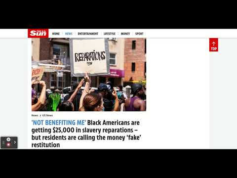 Evanston Illinois Black Residents Unhappy With $25,000 Slave Reparations