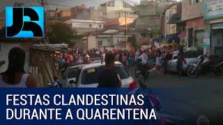 Baixar Jovens desrespeitam o isolamento e se aglomeram em bailes funk em São Paulo
