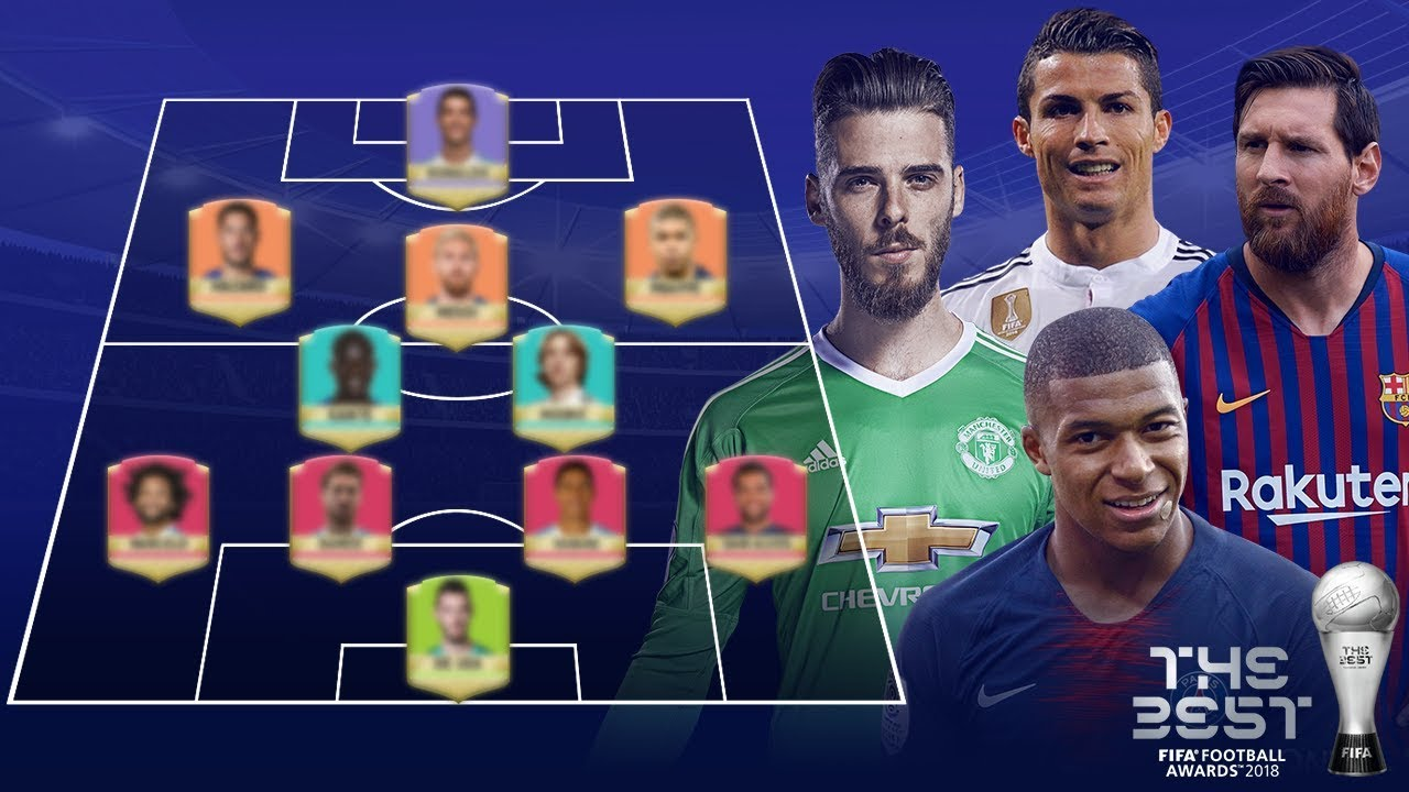 fifa team of the year fifpro world xi 2018 youtube