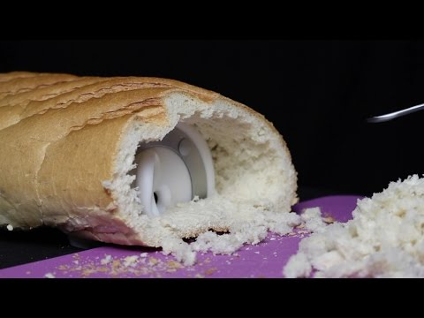 ASMR 3Dio Found in Some Bread! Tapping, Cutting, Tearing, Picking Bread, Latex Gloves (No Talking)