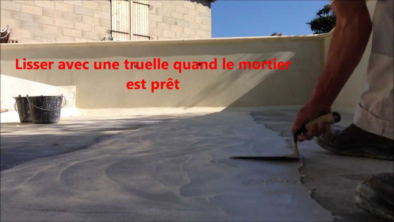 Enduit de finition dalle de la piscine et tanch it for Enduit piscine beton