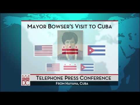 Mayor Bowser Host Press Call on Cuba, 2/23/16
