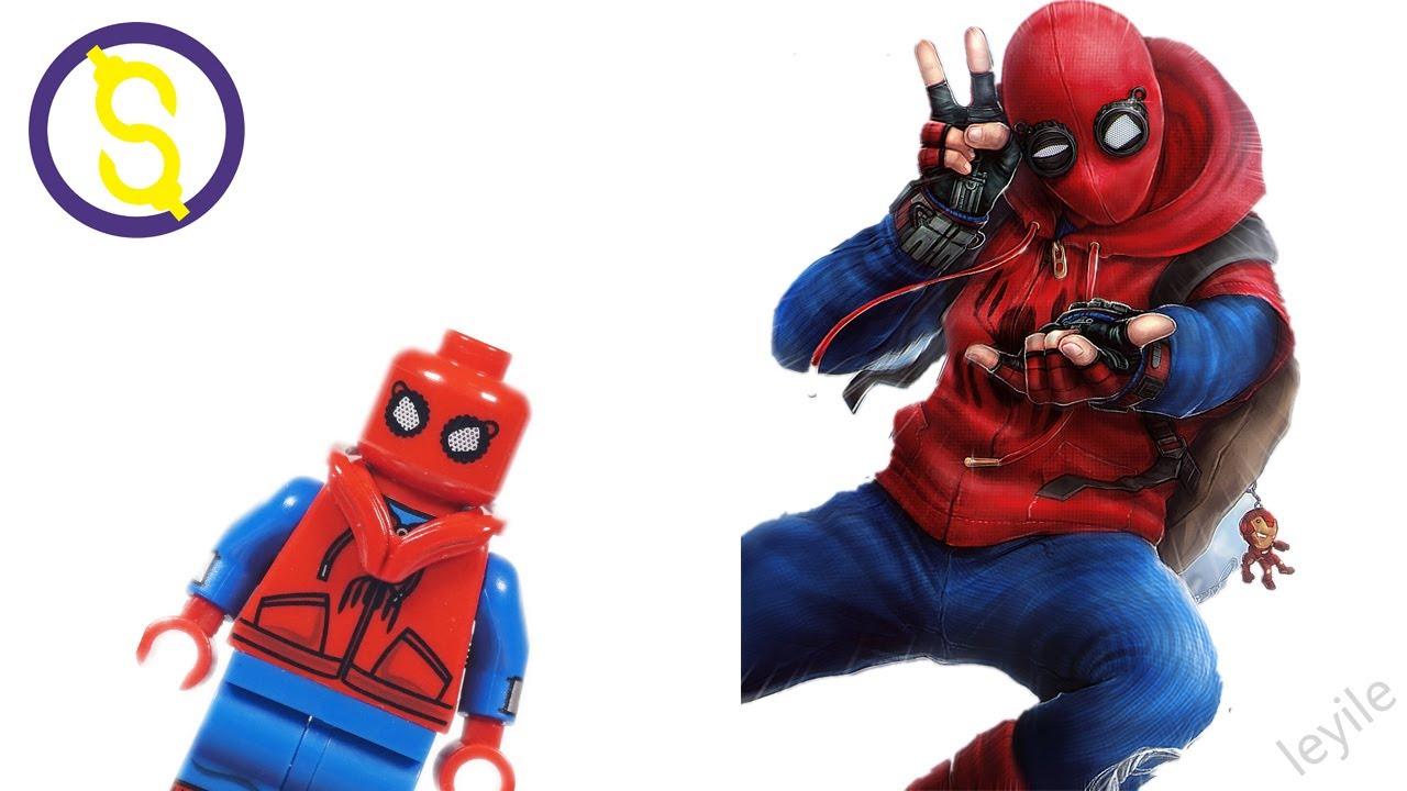 Custom Lego Spider Man Minifigure Homecoming Movie Homemade Suit
