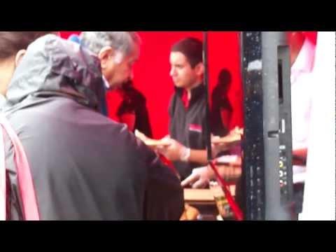 Gunnersbury Mela London (U.K.) - 4th Sept 2011: Shana Company's Samosa Chat Stall