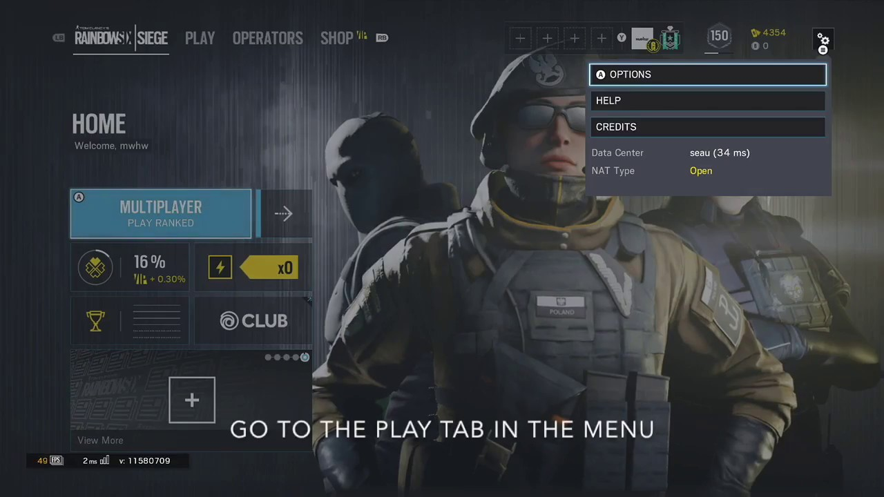 How to change matchmaking region in rainbow six siege