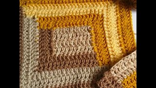 How To Crochet Log Cabin Motif