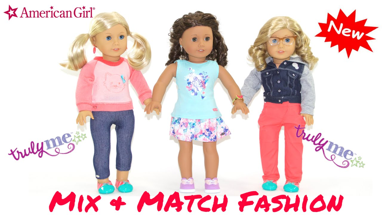 96de5f1813 NEW American Girl Doll Mix And Match FASHION - YouTube