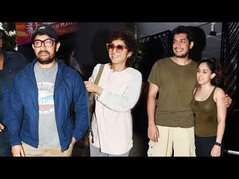 Aamir Khan With Wife Kiran Rao & Kids Ira Khan & Junaid Khan Attend Special Play In Prithvi Theatre Mp3