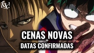 CENAS VAZADAS DE SHINGEKI NO KYOJIN, DATA DE BOKU NO HERO ACADEMIA e MAIS!