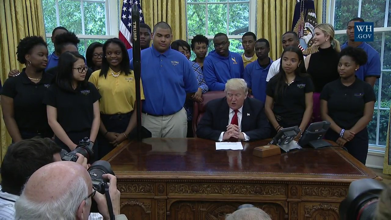 President Trump Is Visited by the Victory Christian Center ...