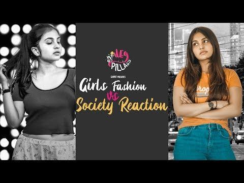 Girls fashion Vs Society reaction | Heypilla | CAPDT