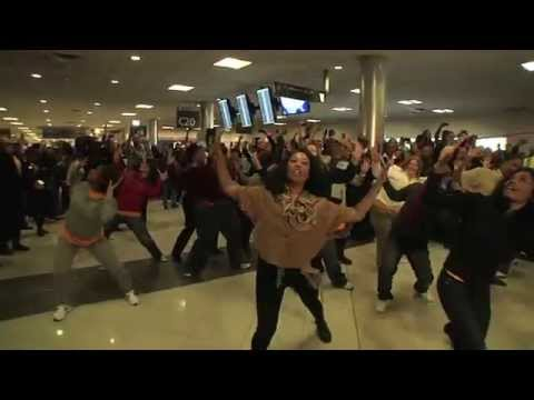 Southwest Airlines And AirTran Flash Mob In Atlanta Airport