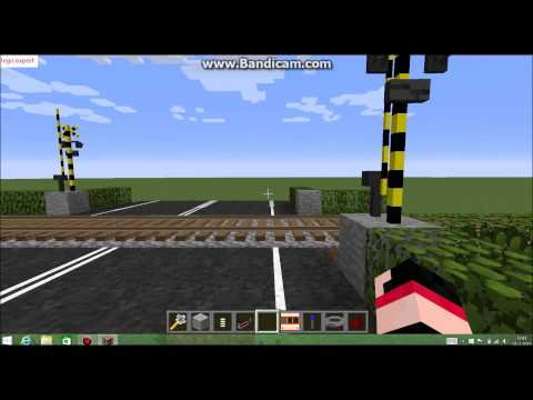 minecraft rail road crossing